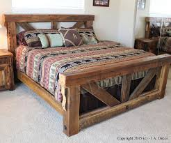 rustic wood bed frame. Perfect Frame Timber Trestle Bed  Rustic Reclaimed Wood Bed Barnwood Frame  Solid Wood Queen Or King Sized For H