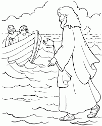Small Picture Peter Walks On Water Coloring Page Coloring Print Peter Walks On