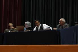 burrillville town council takes stand against proposed power plant john pacheco iii second from the right the burrillville town council president will testify before the state energy facility siting board on behalf of
