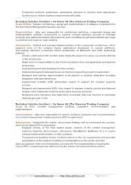 Information Technology Architect Resume Sample Lovely Architectural ...