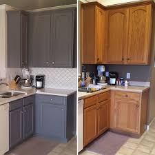 Interior Ideas Paint Kitchen Cabinets Before And After Beautiful To