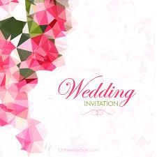260 wedding invitation templates vectors download free vector Indian Wedding Card Free Vector abstract pink polygonal wedding card template preview indian wedding card design vector free download