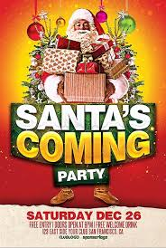 Christmas Party Flyer Template Free Awesome Santa S Ing