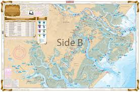 Lake St Catherine Depth Chart Savannah To St Catherines Sound Inshore Fishing Chart 97f