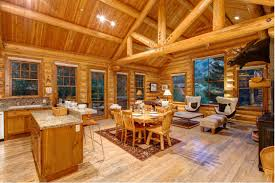 abode luxury als jackson hole moosehead cabin interior kitchen living 2