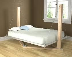 Bedroom:Extraordinary Brown Bedroom Interior Design With Comfy Suspended  Beds Using Pine Wood Pillars Also