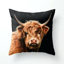 cow throw pillow highland cow throw pillow throw pillow covers 20x20 throw pillow covers