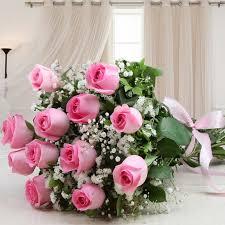 fresh pink roses beautiful bouquet