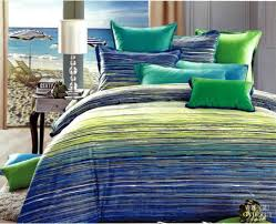blue green striped egyptian cotton bedding set queen quilt duvet intended for and comforter plans 12