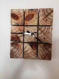 custom rustic pallet wall clock
