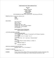 Resume For College Application Gentileforda Com