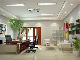 Office:Wonderful Modern Office Interior Design With Indoor Plant Decoration  Modern Office Room Decorating Ideas