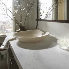 silestone bathroom countertops. In Foggy And Cold Days, We Feel Cozy This Beautiful #bathroom With Silestone Bianco Rivers Countertops. The Delicate Flowers Are A #TopsOnTop Element Bathroom Countertops M