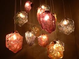glass blowing lighting in artistic design san remo stars by mylife artistic lighting and designs