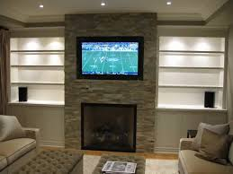 living room with tv over fireplace. Interior:Decorating Ideas For Tv Over Fireplace Niche Design Living Room Wall Mounted Flat Screen With C