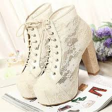 best 25 platform wedding shoes ideas on pinterest white wedding Cheap Wedding Shoe Boots beautiful lace chunky heel ankle boots Silver Wedding Shoes