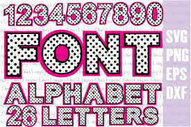 The largest data of free vector icons. Font Polka Dot Bundles Svg Png Eps Dxf Letters And Numbers In 2020 Letters And Numbers Eps Polka Dots