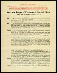 Lot Detail - 1930 Ivy Andrews New York Yankees Signed Uniform Player's  Contract (JSA) Also Signed by Ernest Barnard