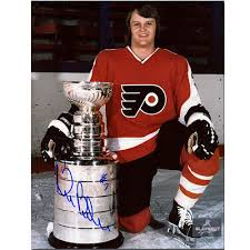 flyers stanely cup bill barber autographed philadelphia flyers stanley cup 8x10 photo