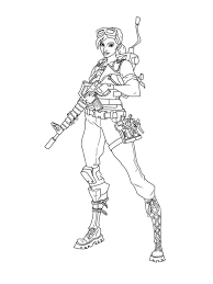 Fortnite Coloring Pages Master Grenadier Get Coloring Page