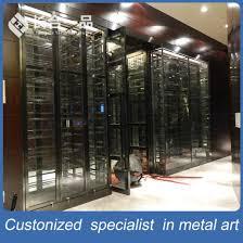 wine cellar furniture. High-End Customized Mirror Cocoa Wine Cellar With Cooler Furniture
