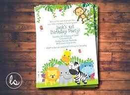 Safari Party Invitations Safari Birthday Invitations Free Jungle Birthday Invitations Safari