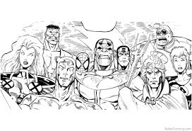 Avengers Infinity War Characters Coloring Pages Super Heros Free
