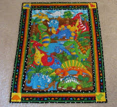 47 best Dinosaur quilts images on Pinterest | Blankets, Baby kids ... & Dinosaur Baby Quilt or Wall Hanging by QuiltingGranny on Etsy Adamdwight.com