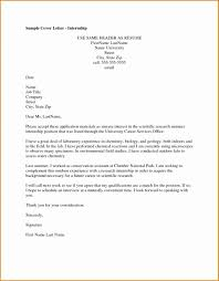 6 Intern Cover Letter Example Ideas Collection Lab Internship Cover