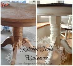 Kitchen Table Makeover Over The Apple Tree Kitchen Table Makeover