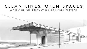 modern architectural sketches.  Architectural Mid Century Modern Home Sketch By Architect Richard B  Value AETN In Architectural Sketches