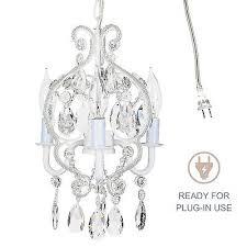 small crystal beaded white chandelier girls room mini swag lighting fixture lamp