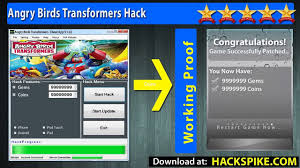 Angry Birds Transformers Hacks for unlimited Coins and Gems No rooting -  Updated Angry Birds Transformers Cheat Coins - video Dailymotion