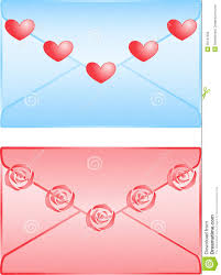 Cute Love Letters Cute Love Letters Isolated On White Background Stock Vector