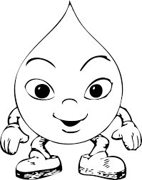 Small Picture Raindrop Coloring Page ClipArt Best 119009 Rain Drop Coloring Page