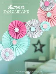 39 Easy DIY Party Decorations - Paper Fan Garland - Quick And Cheap Party  Decors,
