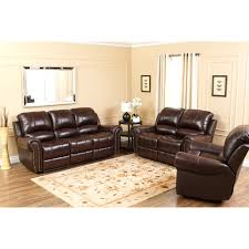 Abbyson Lexington Dark Burgundy Italian Leather Reclining Loveseat and Sofa  Set | Hayneedle