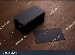 Black Business Background Blank Template Black Business Cards On Stock Illustration 1014593641