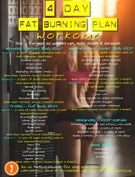4 day fat burning exercise plan