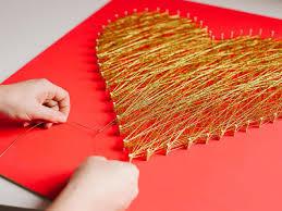How To Do String Art Modern String Art Heart Hgtv