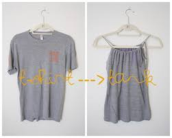 t shirt to cinched neck tank top