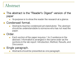 five basic sections of a research paper ppt video online  abstract the abstract is the reader s digest version of the paper