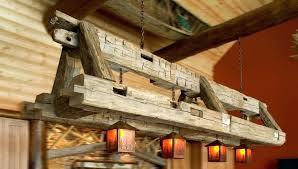 large wood chandelier rustic