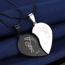 Парный кулон для <b>влюбленных</b>, DekoMir <b>Половинки</b> сердца