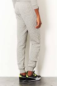Lyst - Topshop Tall Cable Knit Quilted Jogger in Gray & Gallery Adamdwight.com