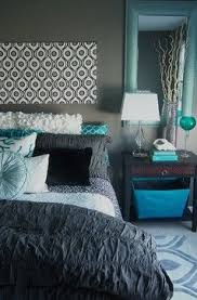 gray and turquoise bedroom. gray and turquoise bedroom contemporary-bedroom e