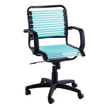teal office chair. Turquoise Flat Bungee Office Chair With Arms Teal K