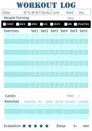 Km Log Sheet Workout Tracker Spreadsheet Weight Training Log Template Glotro Co