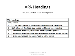 Apa Owl Apa Formatting And Style Guide Adapted From The Purdue Owl Apa