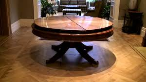 Remarkable Expanding Round Dining Table Video Photo Design Ideas